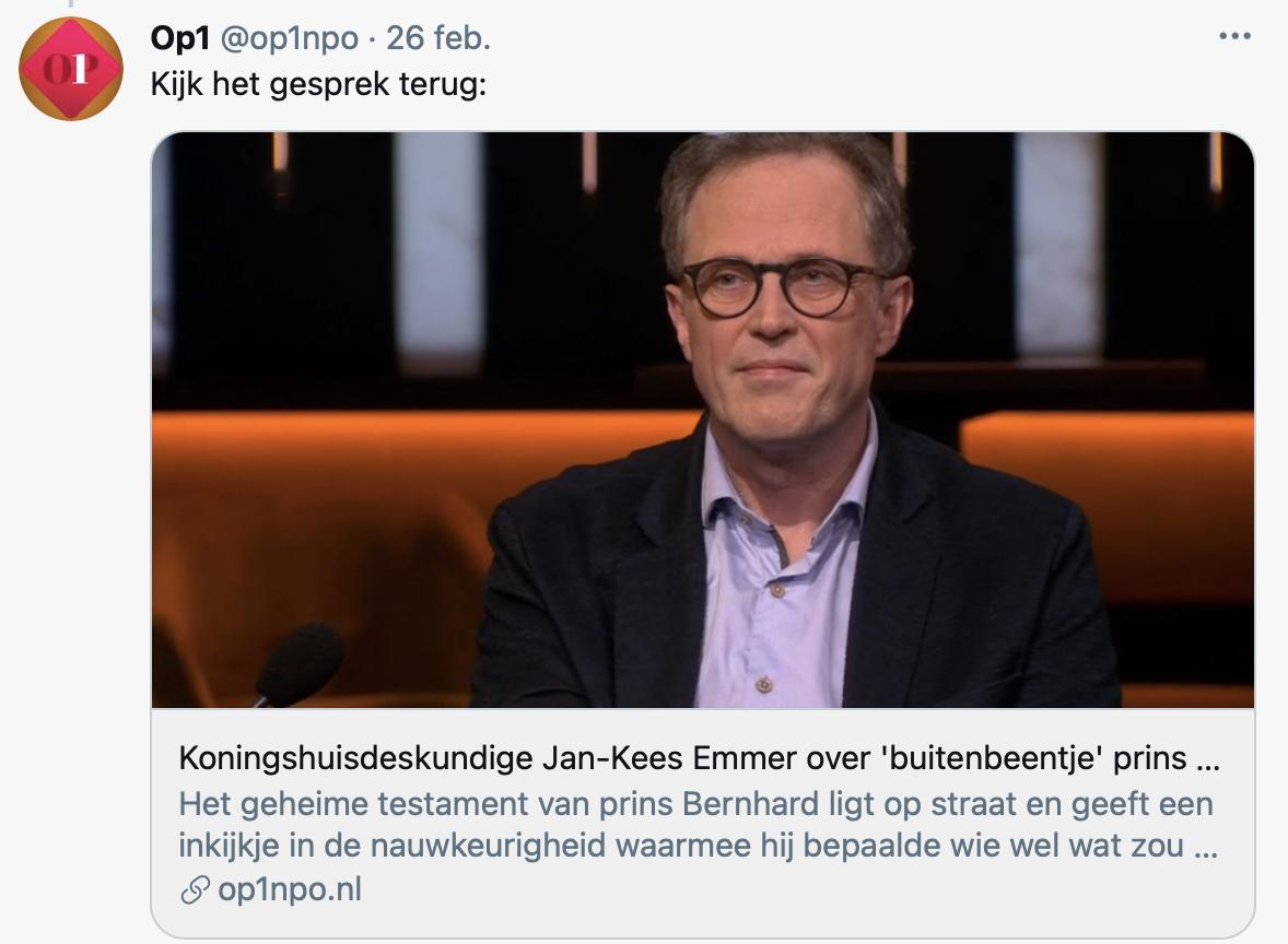 Kam Kees Emmer bij Op1